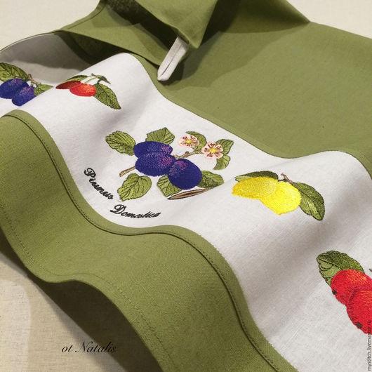 Кухня ручной работы. Ярмарка Мастеров - ручная работа. Купить Кухонное льняное полотенце Villeroy & Boch French Garden -1. Handmade.
