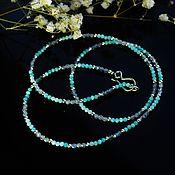 Украшения handmade. Livemaster - original item Winding bracelet, necklace made of Labrador, amazonite
