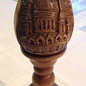 Для дома и интерьера ручной работы. Ярмарка Мастеров - ручная работа Яйцо резное деревянное. Handmade.