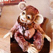 Куклы и игрушки ручной работы. Ярмарка Мастеров - ручная работа Обезьянка Тедди ( пальчики гнуться, гибкий скелет). Handmade.