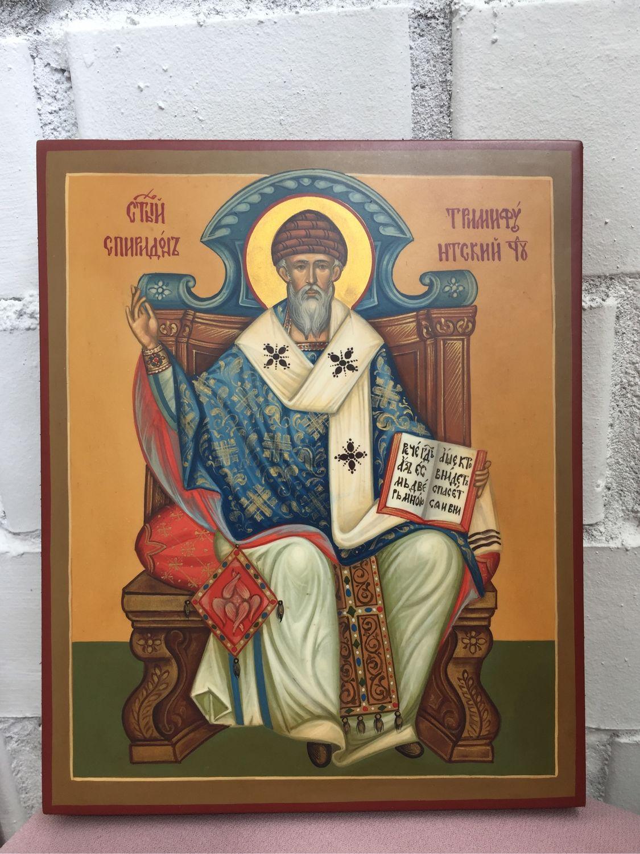 Icon of St.Spiridon Trimifunta 17,5/21 cm, Icons, Yaroslavl,  Фото №1
