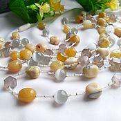 handmade. Livemaster - original item Beads: Opal, agate, cat`s eye.. Handmade.