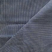 Материалы для творчества handmade. Livemaster - original item Printed cotton blue white peas, отрез3,00m. vintage fabric. soviet union.. Handmade.