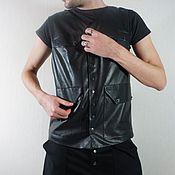 Одежда handmade. Livemaster - original item Leather Waistcoat. Handmade.