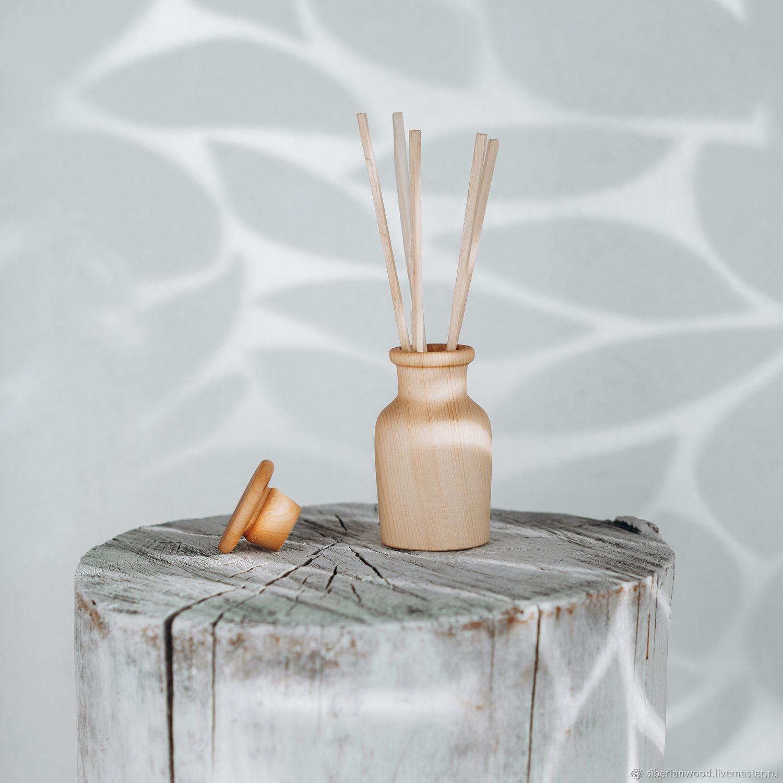 Wooden aroma diffuser with cedar sticks DA1, Interior elements, Novokuznetsk,  Фото №1