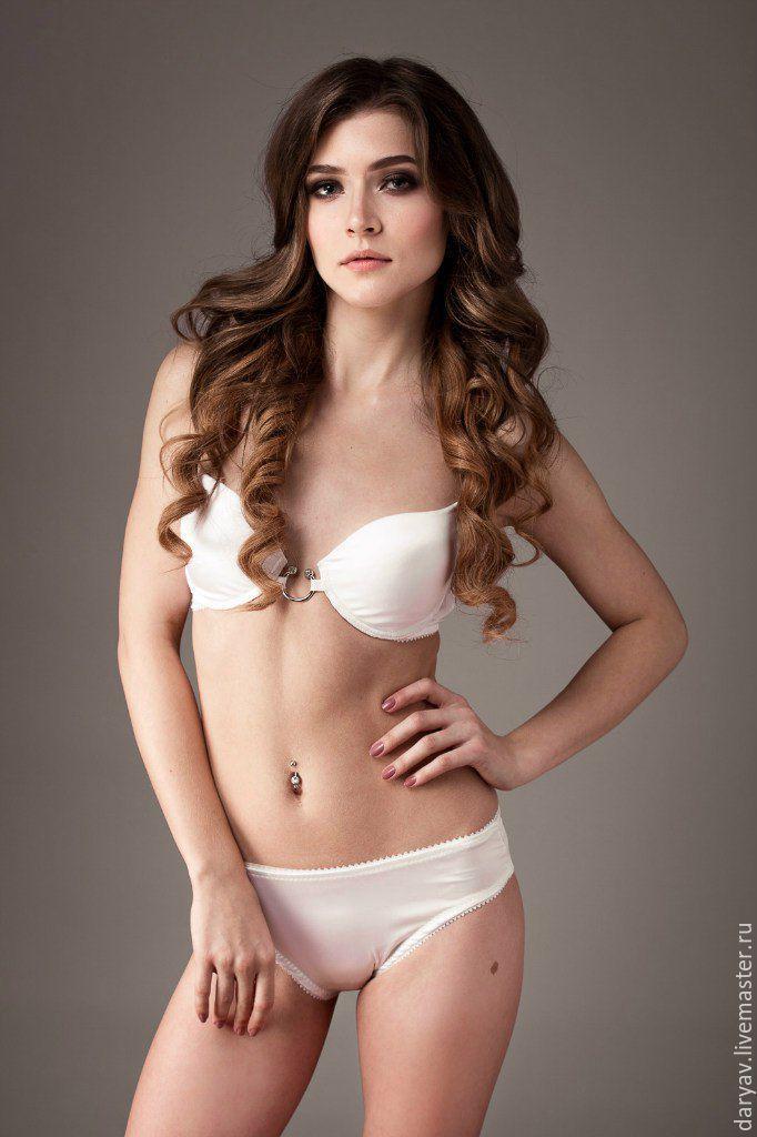 White panties made of natural silk, Underpants, St. Petersburg,  Фото №1