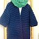 Верхняя одежда ручной работы. Ярмарка Мастеров - ручная работа. Купить Пальто Navy Blue. Handmade. Тёмно-синий, альпака