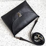 Сумки и аксессуары ручной работы. Ярмарка Мастеров - ручная работа Минимализм , кожаная черная сумочка, на подкладке из замши. Handmade.