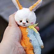 Куклы и игрушки ручной работы. Ярмарка Мастеров - ручная работа Карманный заяц пасхальный. Или сумочный. Или подушечный. тедди. Handmade.