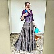 Одежда handmade. Livemaster - original item Linen skirt with a corset belt. Handmade.