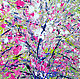 The painting 'cherry blossoms Dance of Spring'. Pictures. Multicolor Gallery. My Livemaster. Фото №6