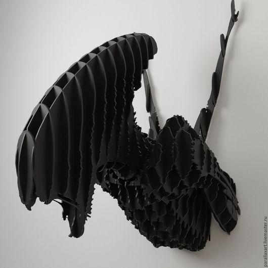 """Интерьерные  маски ручной работы. Ярмарка Мастеров - ручная работа. Купить Голова """"Чужой"""". Handmade. Черный, alien, тройфейная голова"""