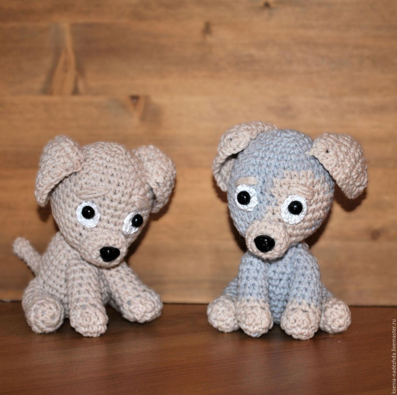 """Игрушки животные, ручной работы. Ярмарка Мастеров - ручная работа. Купить Вязаная игрушка """"Грустный щенок"""". Handmade. Лабрадор, серый"""