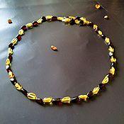 Работы для детей, handmade. Livemaster - original item Natural amber beads, medical beads, processed amber, necklace. Handmade.