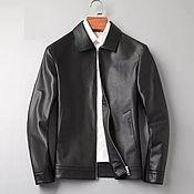 Мужская одежда handmade. Livemaster - original item Men`s outerwear: Jacket made of genuine leather, in black.. Handmade.