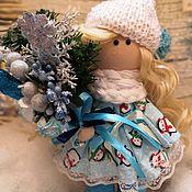 Куклы и пупсы ручной работы. Ярмарка Мастеров - ручная работа Новогодняя куколка:Интерьерная куколка. Handmade.
