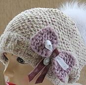 Аксессуары ручной работы. Ярмарка Мастеров - ручная работа комплект шапка и бактус, комплект для девочки,вязаный комплект. Handmade.