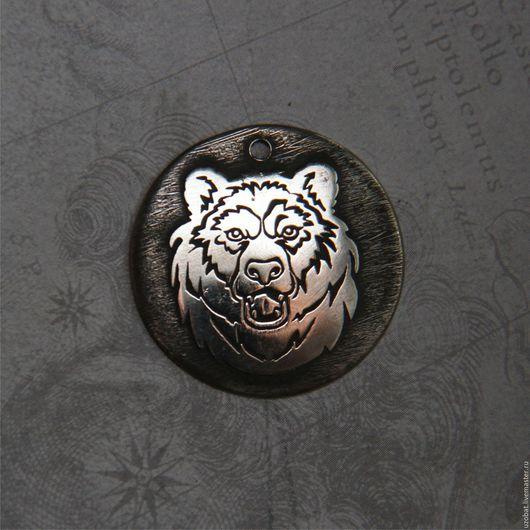 Кулоны, подвески ручной работы. Ярмарка Мастеров - ручная работа. Купить Медведь 2. Handmade. Серебряный, тотем, подарки, символы