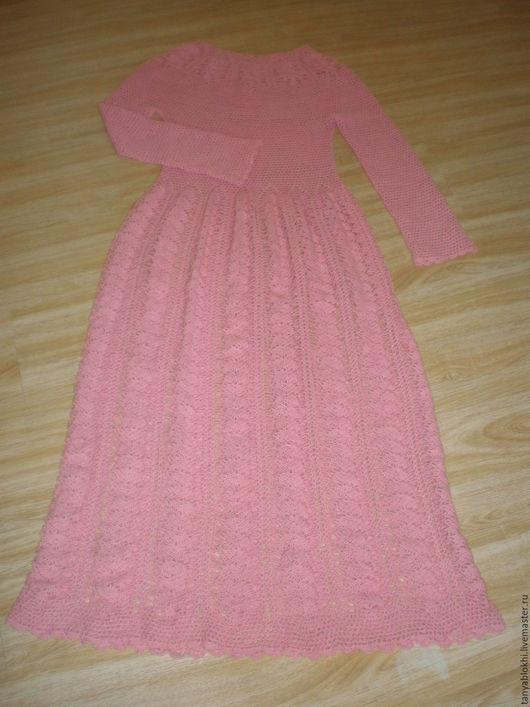 Платья ручной работы. Ярмарка Мастеров - ручная работа. Купить Платье розовое ручной работы длинное в пол. Handmade. Однотонный