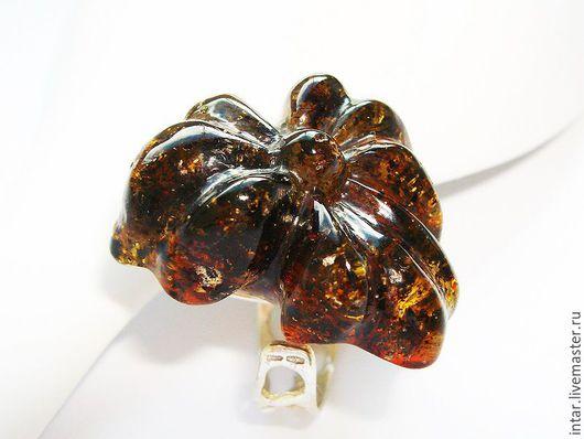"""Кольца ручной работы. Ярмарка Мастеров - ручная работа. Купить кольцо с янтарем """"Любава"""". Handmade. Янтарь натуральный, слезы моря"""