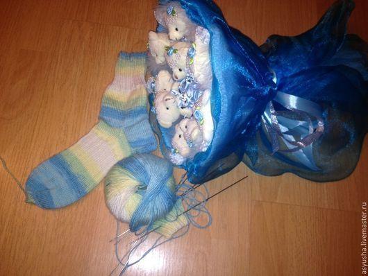 Носки, Чулки ручной работы. Ярмарка Мастеров - ручная работа. Купить носки шерстяные полосатые. Handmade. Шерстяные носки