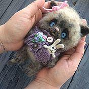 """Куклы и игрушки ручной работы. Ярмарка Мастеров - ручная работа Войлочная игрушка """"Котенок"""". Handmade."""