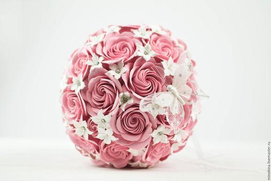 Свадебные цветы ручной работы. Ярмарка Мастеров - ручная работа. Купить Свадебный розовый букет. Handmade. Бледно-розовый, стефанотисы