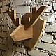 Прихожая ручной работы. Деревянная голова оленя. THEVINGERT. Интернет-магазин Ярмарка Мастеров. Вешалка олень, деревянная голова оленя