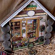 Для дома и интерьера ручной работы. Ярмарка Мастеров - ручная работа `Домик в деревне` ключница большая и малая. Handmade.
