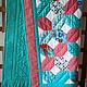 Пледы и одеяла ручной работы. Детское лоскутное одеяло Бирюзовое. Елена Другалёва. Интернет-магазин Ярмарка Мастеров. Бирюзовый