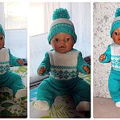 Куклы и игрушки ручной работы. Ярмарка Мастеров - ручная работа Бирюзовый костюм. Handmade.