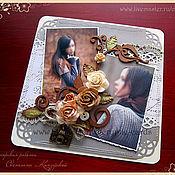 """Открытки ручной работы. Ярмарка Мастеров - ручная работа Открытка """"переплетение роз"""" с вашими фото. Handmade."""