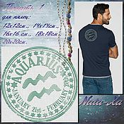Материалы для творчества handmade. Livemaster - original item The zodiac sign Aquarius. Print. Handmade.