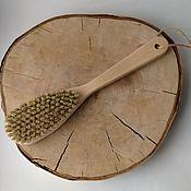 Для дома и интерьера handmade. Livemaster - original item Body Wash and Massage Brush with handle (medium hardness).. Handmade.