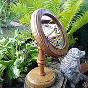 Для дома и интерьера ручной работы. Ярмарка Мастеров - ручная работа Зеркало настольное круглое на ножке.. Handmade.