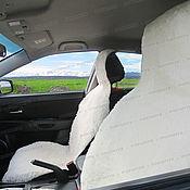 Сувениры и подарки handmade. Livemaster - original item Cushion car seat sheep skins (2 PCs), white. Handmade.