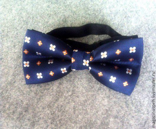 Галстуки, бабочки ручной работы. Ярмарка Мастеров - ручная работа. Купить Галстук бабочка. Handmade. Тёмно-синий, галстук