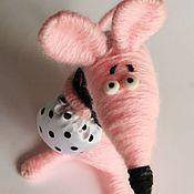 Куклы и игрушки ручной работы. Ярмарка Мастеров - ручная работа Мышь розовая. Хозяйственная.. Handmade.