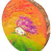 """Картины и панно ручной работы. Ярмарка Мастеров - ручная работа Картина на спиле """"Волшебный домик"""". Handmade."""
