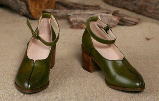 Обувь ручной работы. Ярмарка Мастеров - ручная работа. Купить Туфли 8. Handmade. Туфли, бохо-стиль, кожа натуральная