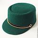 Шляпы ручной работы. Шляпка Emeraude (Изумрудная). Модные шляпки Kolo, kolo!. Интернет-магазин Ярмарка Мастеров. Зеленый, шляпка