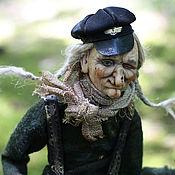 Куклы и игрушки ручной работы. Ярмарка Мастеров - ручная работа авторская кукла. Баба-Яга-таксист. Handmade.