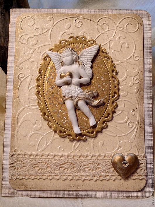 """Открытки на все случаи жизни ручной работы. Ярмарка Мастеров - ручная работа. Купить Открытка """"Ангел"""". Handmade. Открытка ручной работы"""