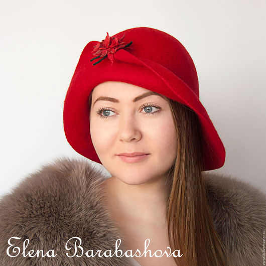 """Шляпы ручной работы. Ярмарка Мастеров - ручная работа. Купить Шляпка """"Танго из мечты"""". Handmade. Ярко-красный, шляпка с полями"""