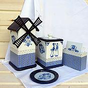 """Для дома и интерьера handmade. Livemaster - original item Набор для чаепития Маленькая Голландия"""". Handmade."""