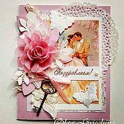 Открытки ручной работы. Ярмарка Мастеров - ручная работа Свадебная открытка ручной работы. Handmade.