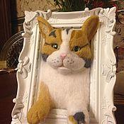 Мягкие игрушки ручной работы. Ярмарка Мастеров - ручная работа Панно Кошка. Handmade.