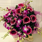 Цветы и флористика ручной работы. Ярмарка Мастеров - ручная работа Букет из живых цветов с Орхидеями. Handmade.