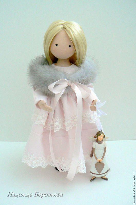 Коллекционные куклы ручной работы. Ярмарка Мастеров - ручная работа. Купить Адель. Handmade. Бледно-розовый, текстильная кукла