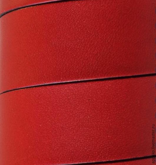 Для украшений ручной работы. Ярмарка Мастеров - ручная работа. Купить КОЖАНЫЙ ШНУР 20мм. КРАСНЫЙ. Handmade. Кожаный шнур
